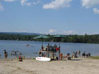 Sandy Beach at Laurel Lake