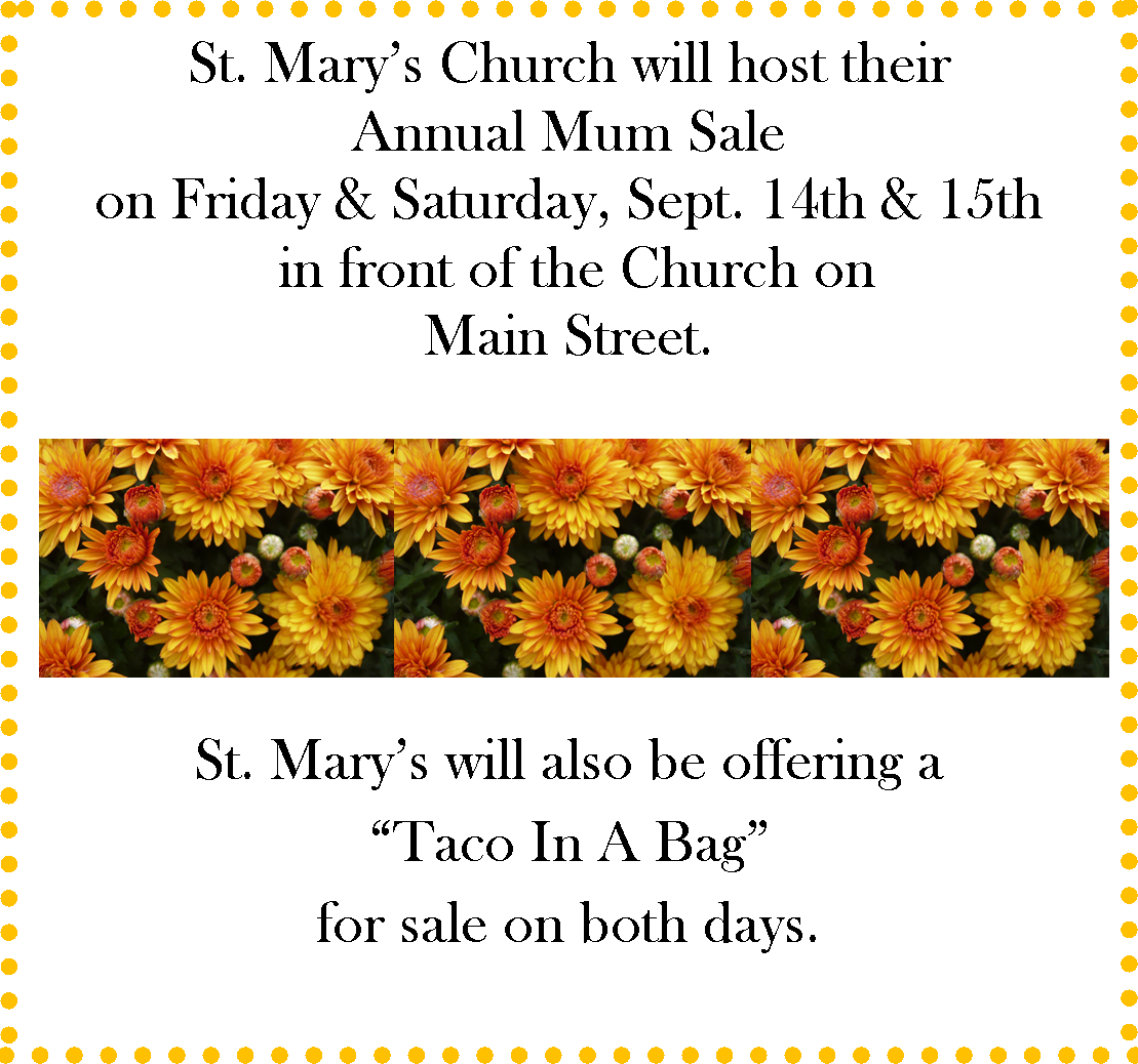 St. Mary's Mum Sale + Taco In A Bag
