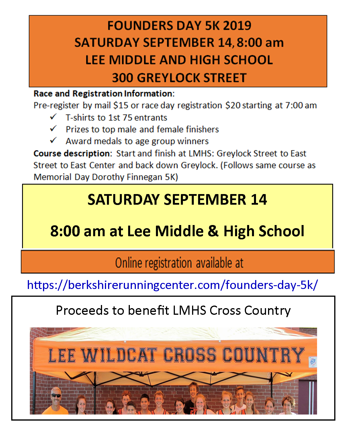 5K Road Race to Benefit Lee Cross Country Teams