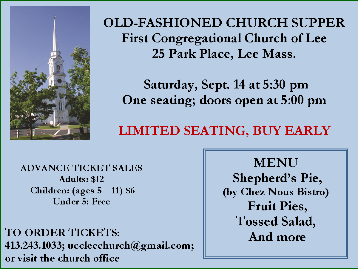Church Supper at Lee Congregational Church