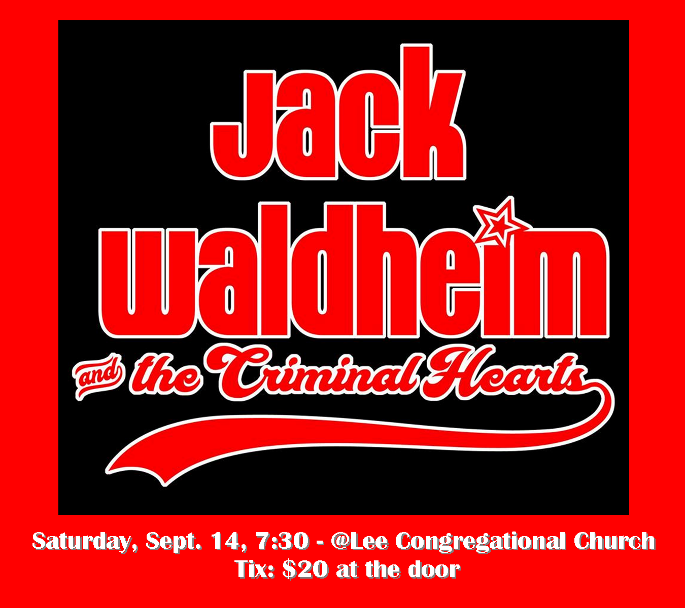 Jack Waldheim Concert Lee Congregational Church
