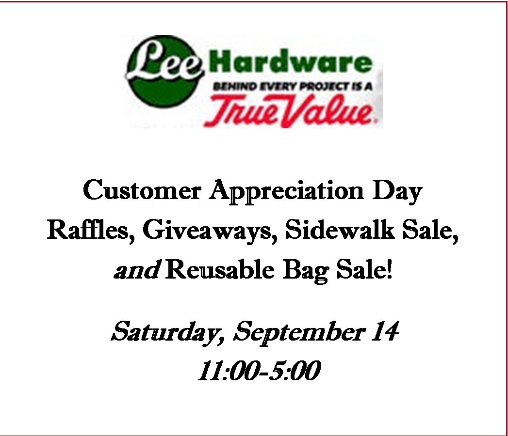 Lee Hardware Customer Appreciation Day