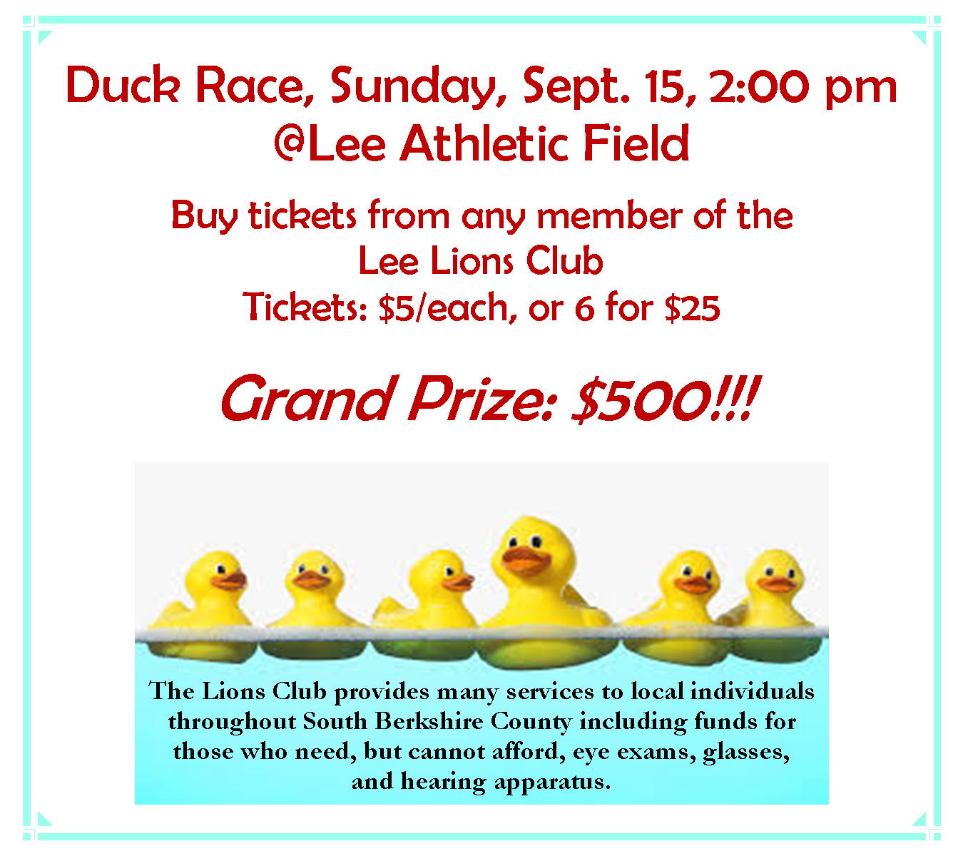 Lee Lions Duck Derby