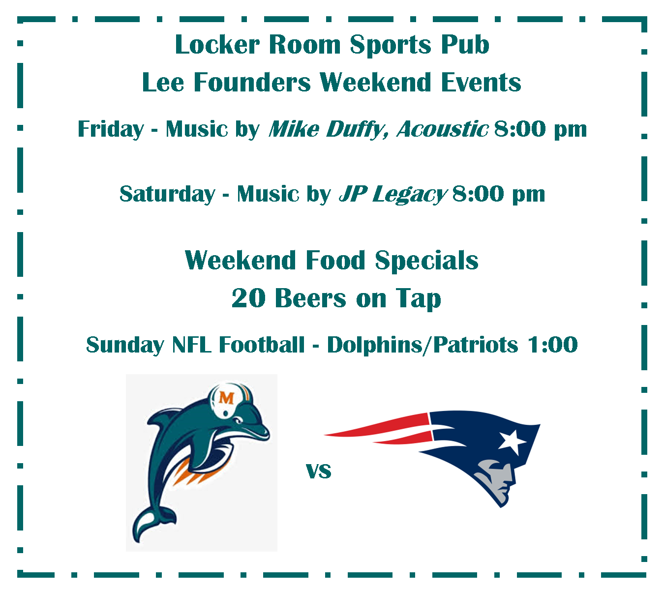 Locker Room Sports Pub Live Music and Specials