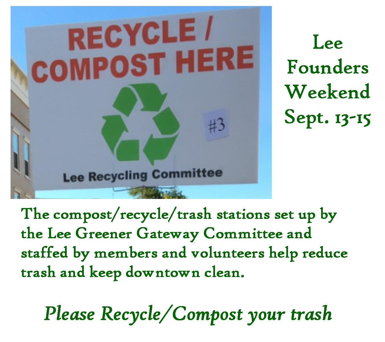 Recycle Compost Sign 2019