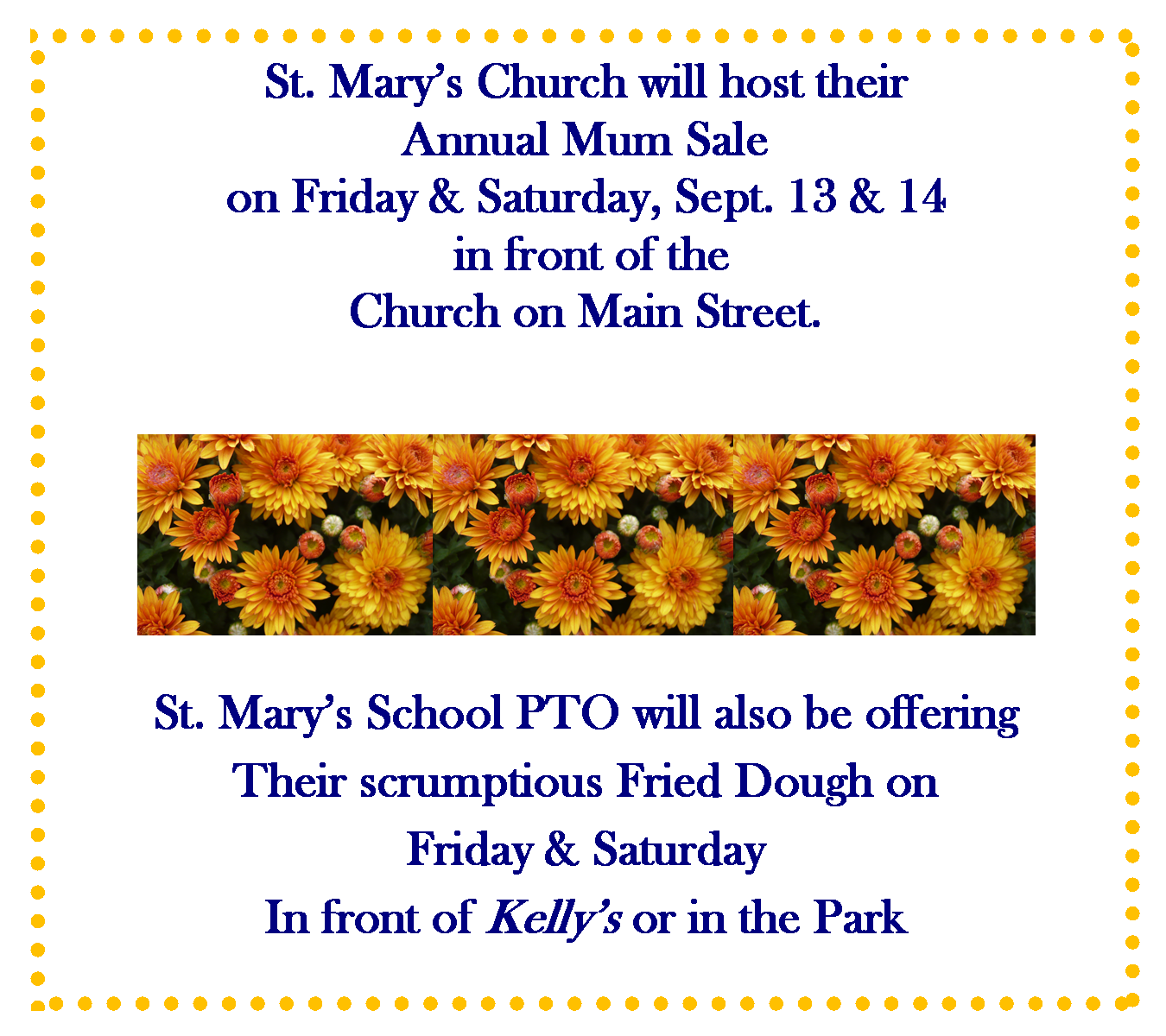 St Marys Church Mum Sale 2019