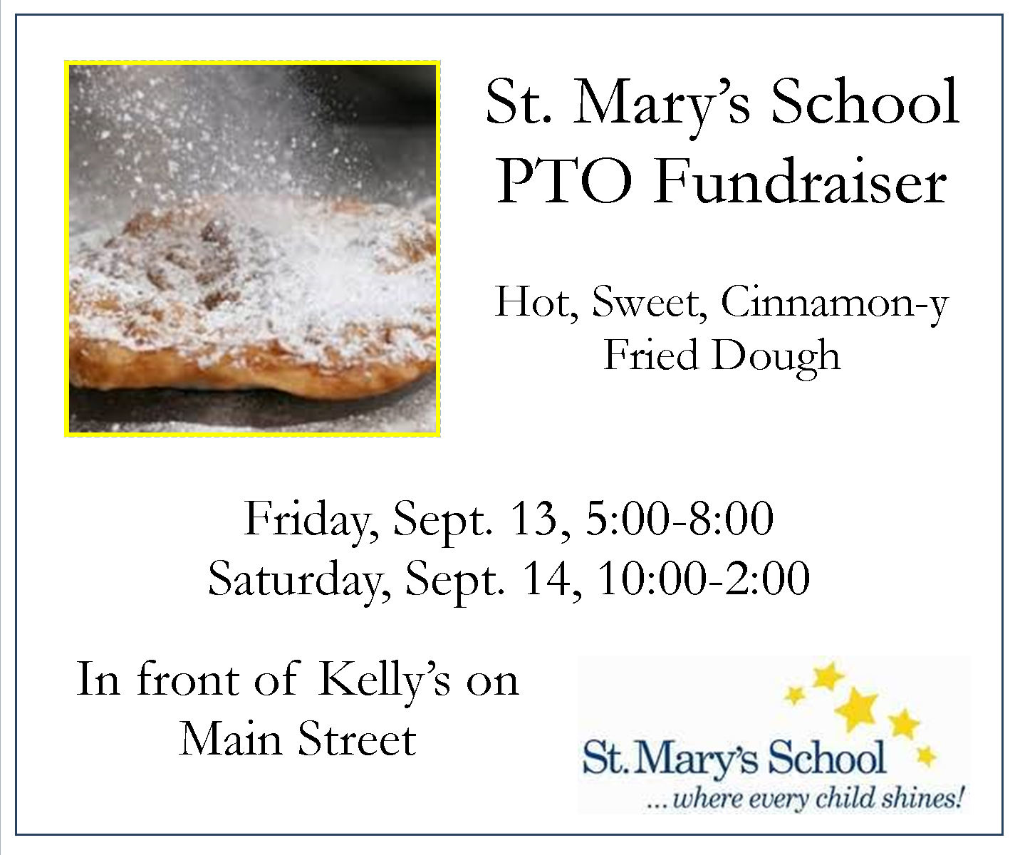 St Marys PTO Fried Dough